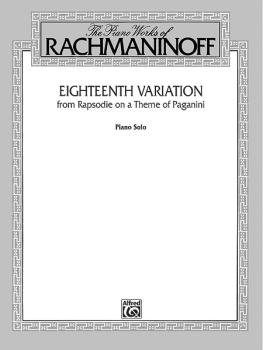 Eighteenth Variation (from <I>Rhapsodie on a Theme of Paganini</I>) (AL-00-F02063)