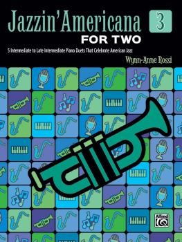 Jazzin' Americana for Two, Book 3: 5 Intermediate to Late Intermediate (AL-00-46913)