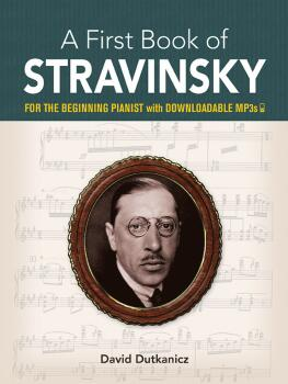 A First Book of Stravinsky (For the Beginning Pianist with Downloadabl (AL-06-842843)