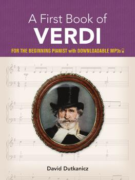 A First Book of Verdi (For the Beginning Pianist with Downloadable MP3 (AL-06-83896X)