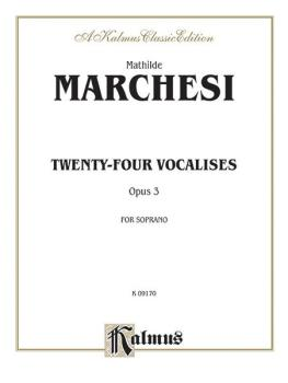 Twenty-four Vocalises for Soprano, Opus 3 (AL-00-K09170)